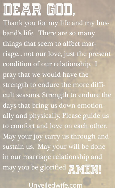 Prayer Of The Day Strength For Marriage