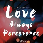 Love Always Perseveres – What Is Love? – Part 14