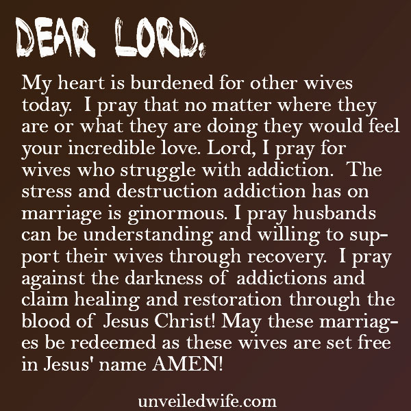 Prayer Of The Day - Wives With Addiction