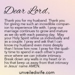 Prayer Of The Day – Knowing My Husband More Deeply