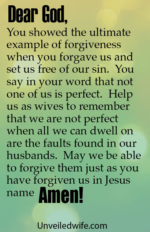 Prayer to forgive husband