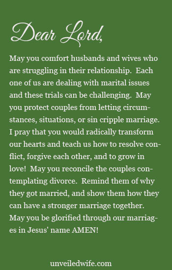 Prayer Of The Day - Couples Contemplating Divorce