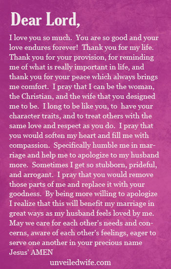 apology to my wife