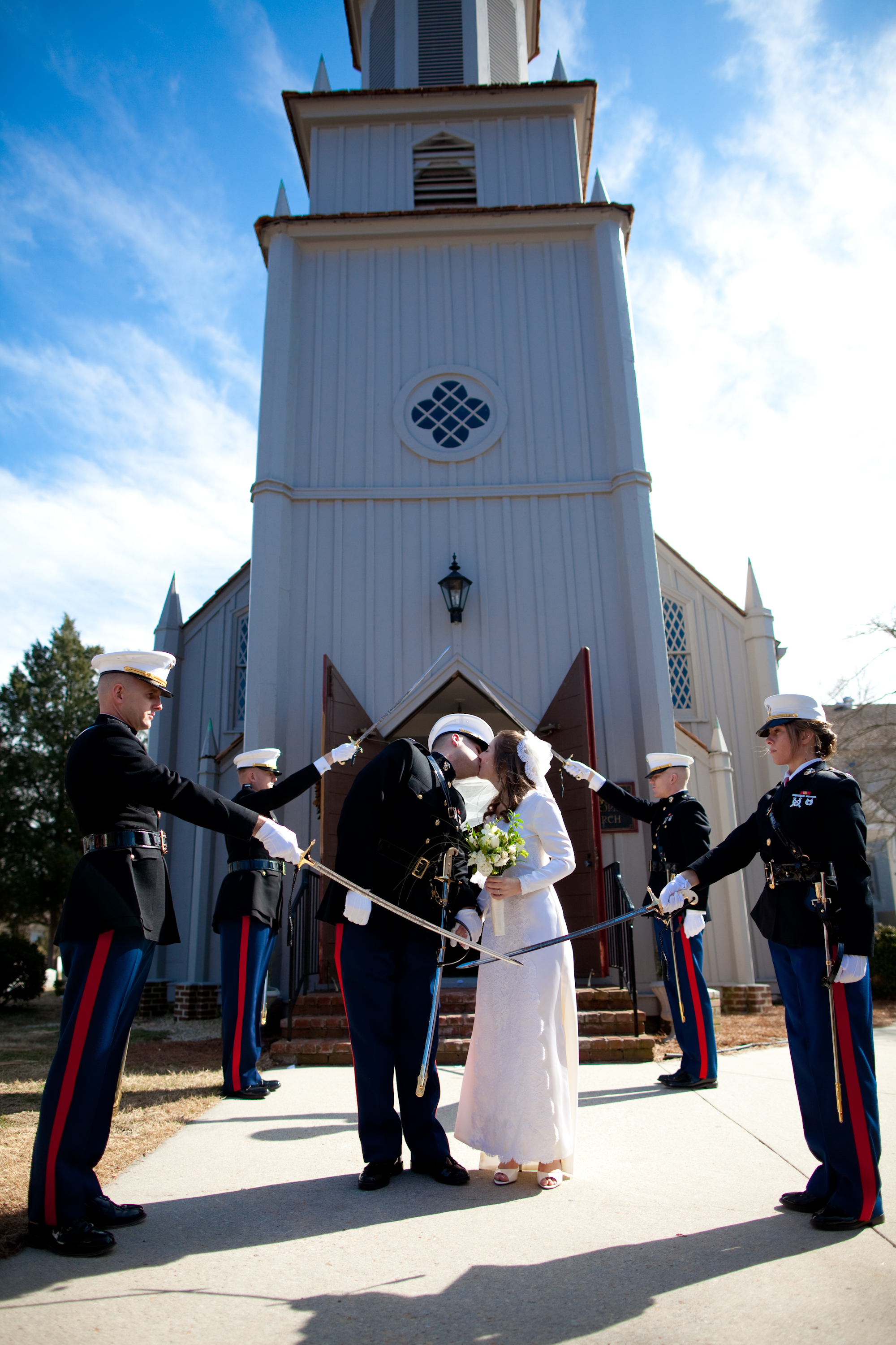 After the pomp and circumstance, not everything is shiny and new in a Marine Corps marriage