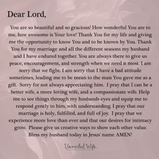 Prayer: A Thankful Wife