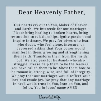 Prayer: Marriages In Need